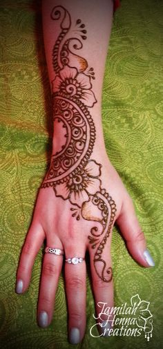 Sangeet henna strip www.JamilahHennaCreations.com Indian Henna Designs, Henna Designs Easy, Beautiful Henna Designs, Bridal Mehndi Designs, Mehndi Designs For Hands, Henna Tattoo Designs, Bridal Henna, Henna Ink, Henna Body Art