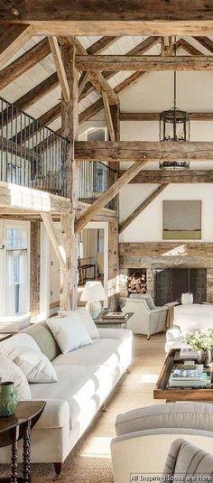 Parrut näkyvillä. Nice 23 Best Rustic Farmhouse Living Room Ideas https://roomaniac.com/23-best-rustic-farmhouse-living-room-ideas/