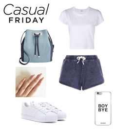 """""""casual friday"""" by bellafawxo on Polyvore featuring New Look, RE/DONE, adidas, INC International Concepts, casual and chill"""