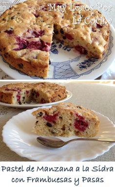 Pastel de Manzana a la Sidra con Frambuesas y Pasas
