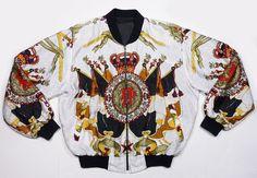 Vintage 90's Baroque Royalty Crest Swag hiphop by hermosavintage, $45.00