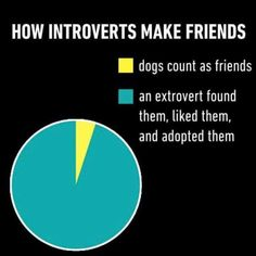how introverts make friends. (needs more yellow)