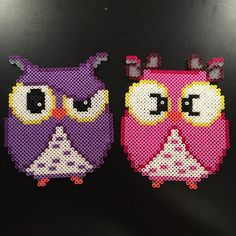 Owls hama perler beads by aslaugsvava