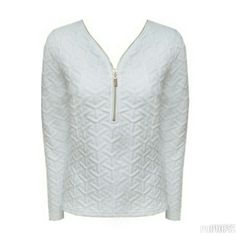 New embossed textured jersey in white and navy #fashiongallerysa #fashion #winter #jerseys #southafrica