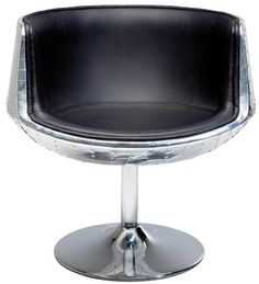 Swivel Chair Soho 54 Alu Black by #KAREDesign