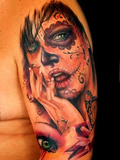 Tatouage catrina santa muerte tattoo