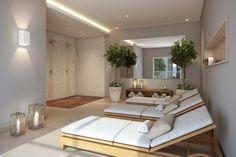 Espaço relax com sauna úmida e ducha