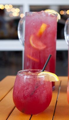 The Dorstone, Pomchi Smash, Watermelon Passion Spritzer, 'The Deep End' Sangria and Ciroc Pomegranate Lemonade are some of our favorite summer cocktails to cool off after being out in the hot summer sun. Fancy Drinks, Cocktail Drinks, Cocktail Recipes, Vodka Cocktails, Beach Cocktails, Martinis, Refreshing Drinks, Summer Drinks, Vodka Limonade