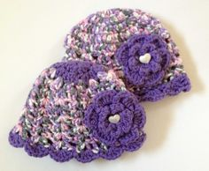 Baby flower hat baby granny hat 0-6 month by BloomingRoseCrochet, $14