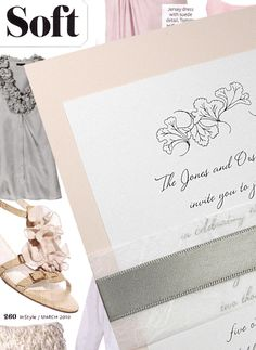 pink and gray invitation
