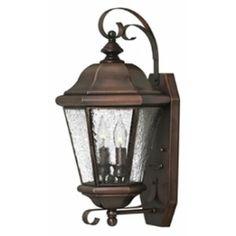 Hinkley Lighting 2265AP Clifton Beach Brass Outdoor Lantern Fixture