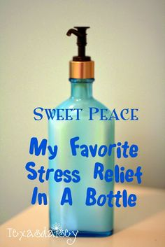 Recipe for Sweet Peace Body Lotion that gives stress relief and smells like baby powder