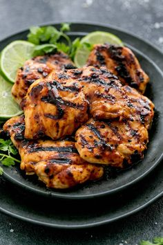 This Grilled Chili Lime Chicken from The Recipe Critic is made with tender and juicy grilled chicken with the best ever chili lime marinade! Serve it up with a fresh side salad or your favorite grilled veggies! Best Grilled Chicken Marinade, Chicken Marinade Recipes, Chicken Marinades, Grilling Recipes, Cooking Recipes, Healthy Recipes, Recipe Marinade, Healthy Grilled Chicken Recipes, Lime Chicken Recipes