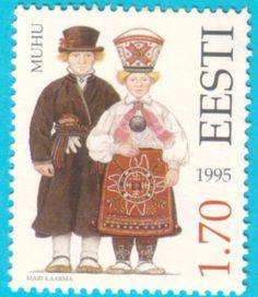 All* Estonian stamps: Folk costumes. Muhu