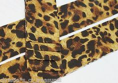 """10 Strips 2.5"""" CHEETAH Quilting Fabric QUILT Jelly Roll Quilter"""