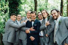 Men's Light Grey Suit - The Groomsman Suit Grey Vest, Gray Jacket, Wedding Pics, Wedding Styles, Gray Groomsmen Suits, Light Grey Suits, Georgia Wedding, Groom Style, Bridesmaid Dresses