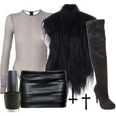 Leather and fur a good combination