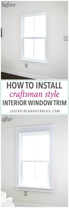 Craftsman Exterior Window Trim diy modern craftsman window trim | craftsman window trim