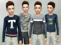 Designer Shirt P05 for Boys Found in TSR Category 'Sims 4 Male Child Everyday'