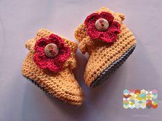Chaussons au crochet bébés