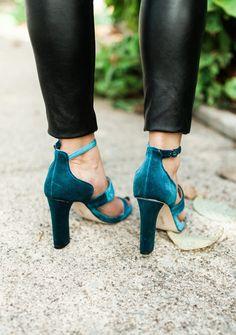 Velvet Sandals / Holiday Shoes