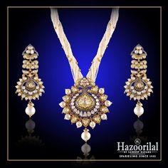 Exquisite and Exemplary design only from the House of #HazoorilalBySandeepNarang #Polki #UncutDiamond #Diamonds #Gold #TraditionalJewelry #Hazoorilal