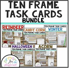 Ten Frame Task Cards Making Ten With Friends Bundle - Primary Playground