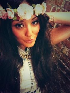 Charlotte from Geordie Shore rocking flowers
