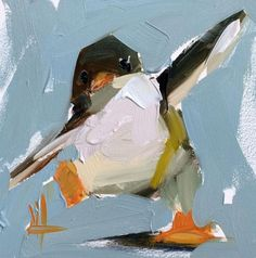 Penguin no. 5 Original Oil Painting by Angela Moulton