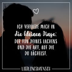 Visual Statements®️️ Ich verliebe mich in die kleinen Dinge: der Ton deines… Visual Statements®️️ I fall in love with the Best Love Quotes, Love Quotes For Him, Couple Quotes, Family Quotes, Girly Quotes, True Quotes, Relationships Love, Relationship Quotes, Miss You Images