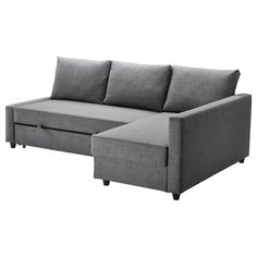 IKEA - FRIHETEN, Corner sofa-bed with storage, Skiftebo dark grey, This sofa converts quickly and easily into a spacious bed when you remove the back cushions and pull out the underframe. Sofa, chaise longue and double bed in one. Ikea Friheten, Friheten Sofa Bed, Sofa Bed With Chaise, Chair Bed, Sofa Beds, Futon Couch, Lounge Sofa, Ottoman Bed, Bedding