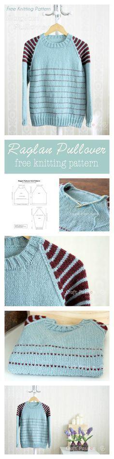 Raglan Pullover - Free Knitting Pattern   Craft Passion