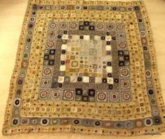 Excellent blanket by clothogancho! Associations with famous portrait Adele Bloch-Bauer I by Gustav Klimt.