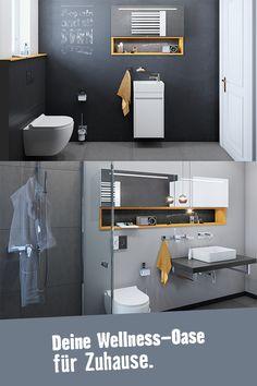Gerade Linien und klare Strukturen. Das Traumbad Berlin ist ein echter Hingucker. Hier kannst Du Deine Energie aufladen. Wc Sitz, Modern, Toilet, Berlin, Cabinet, Bathroom, Storage, Furniture, Home Decor