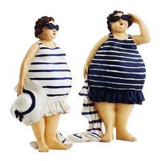 Figurines de baigneuses pour donner une ambiance bord de mer à votre intérieur! #accessoires #déco