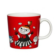 Little My lives with the Moomins in the Moominhouse, even though she isn't related to them. Little My is brave and fearless, and is eager to join the Moomins on their adventures.  When buying Moomin designs you buy more than just a mug. You buy a thought and a positive attitude towards life. That is why Moomins are the perfect gift both for yourself and your loved ones.
