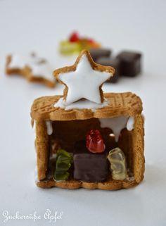 Weihnachtskrippe aus Keksen  ** Zuckersüße Äpfel **