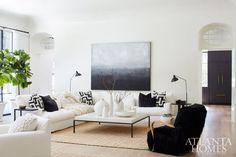 Marie Flanigan Interiors - Melanie Turner - Modern living room - Master modern moulding - no moulding