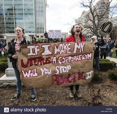 Download this stock image: Indianapolis, Indiana, USA. 9th Apr, 2016. Rally for Women's Rights at the Indiana Statehouse on April 9, 2016 in reponse to Indiana's newly passed abortion law House Bill 1337. Govenor Pence signed the new abortion restrictions into law on March 24, 2016. Credit:  Lora Olive/ZUMA Wire/Alamy Live News - FX0DNB from Alamy's library of millions of high resolution stock photos, illustrations and vectors.