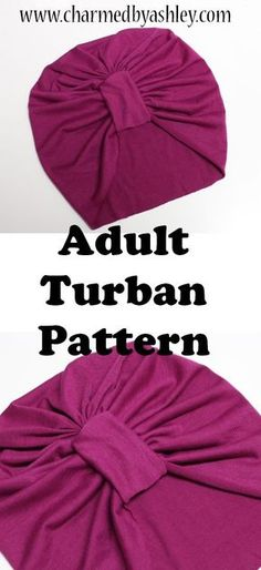 Sewing for beginners clothes pattern projects Ideas Baby Turban, Head Turban, Hat Patterns To Sew, Sewing Patterns Free, Clothing Patterns, Turban Headband Tutorial, Turban Headbands, Flower Headbands, Diy Headband