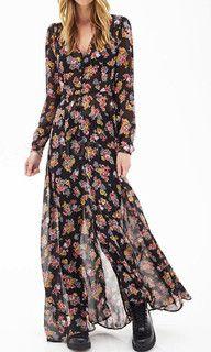 TROPICAL DREAMING CHIFFON MAXI DRESS