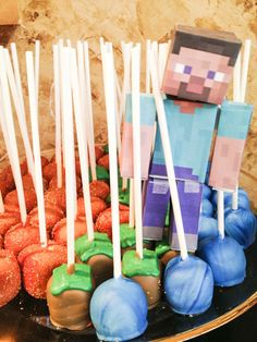 Minecraft Cake pops by LittleCakesGranger on Etsy,