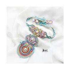 Pastel Princess  collier de soutache élégant et par MrOsOutache