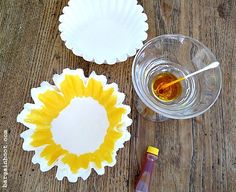 sunflowers coffee filter art! I used to do this with my mom all the time!