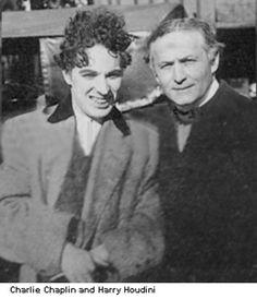 Charlie Chaplin and Harry Houdini