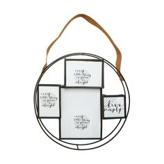 Round Collage Frame With Strap | Kmart