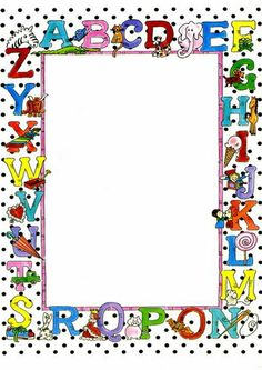7 Best Images of Free Printable Alphabet Borders - Free Printable Alphabet Page Border Clip Art, Free Printable School Border Paper and Free Printable School Borders Borders For Paper, Borders And Frames, School Border, School Frame, Quilt Labels, Frame Clipart, Paper Frames, Writing Paper, Border Design