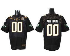 Nike NFL Philadelphia Eagles 2016 PRO BOWL Black Men s Stitched Elite  Customized Jersey Nhl Jerseys c7bd34c03