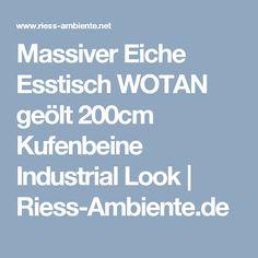 Massiver Eiche Esstisch WOTAN geölt 200cm Kufenbeine Industrial Look   Riess-Ambiente.de