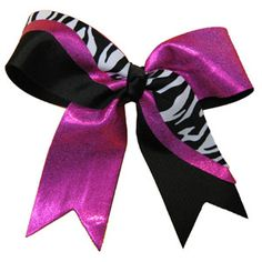 Custom Large Short Tail Strike Bow w/ Specialty Animal Print Material by Cheerleading Company